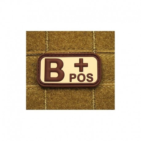 JTG Bloodtype B pos Rubber Patch tan