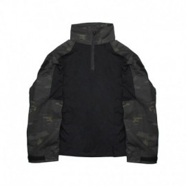 TMC Combat Shirt 3°Gen. Multi Camo Black