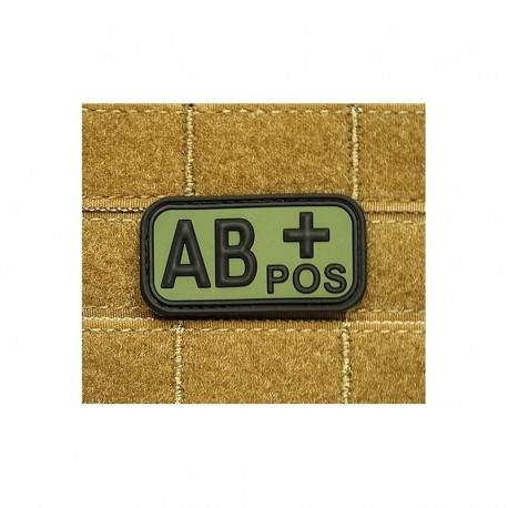 JTG Bloodtype AB pos Rubber Patch OD