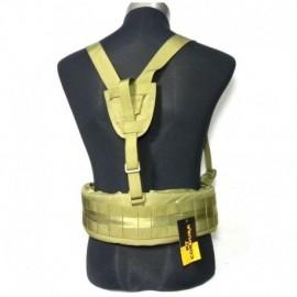 TMC MOLLE EG style MLCS Gen II Belt with suspenders Khaki