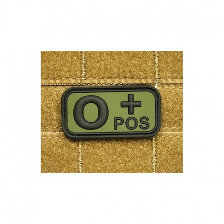 JTG Bloodtype O pos Rubber Patch OD