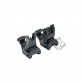 FMA 71L F/R Folding Sight Set BK