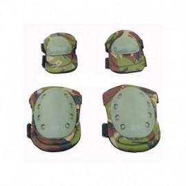 BRAVO Knee and elbow pad set WoodLand
